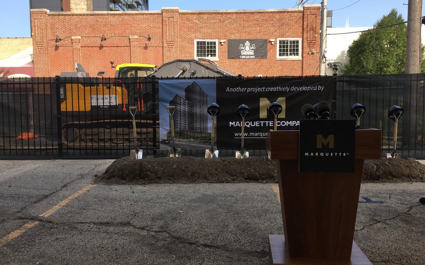Groundbreaking Ceremony, Marquette Companies, 1400 and 1454 W Randolph