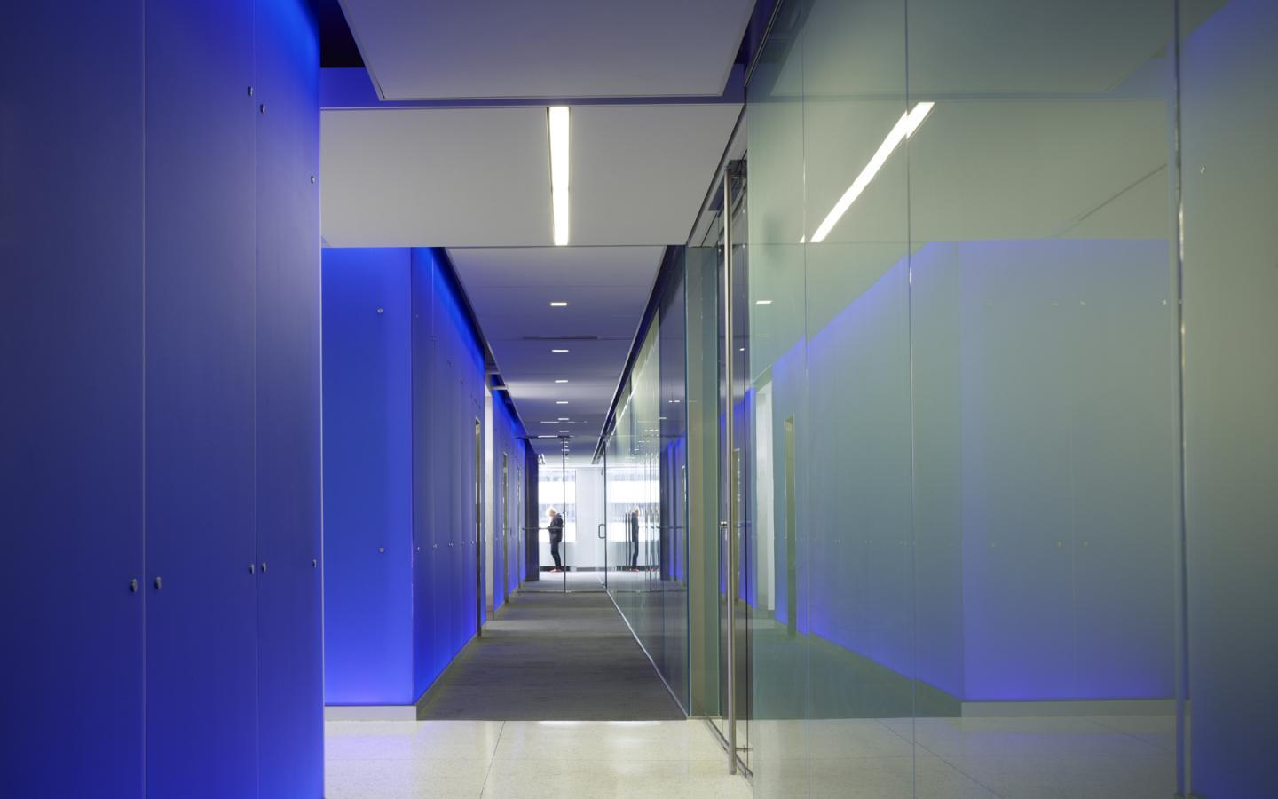 Blue Office: Hallway