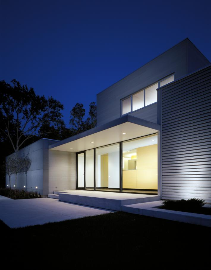Carus Residence: Doorway at Night