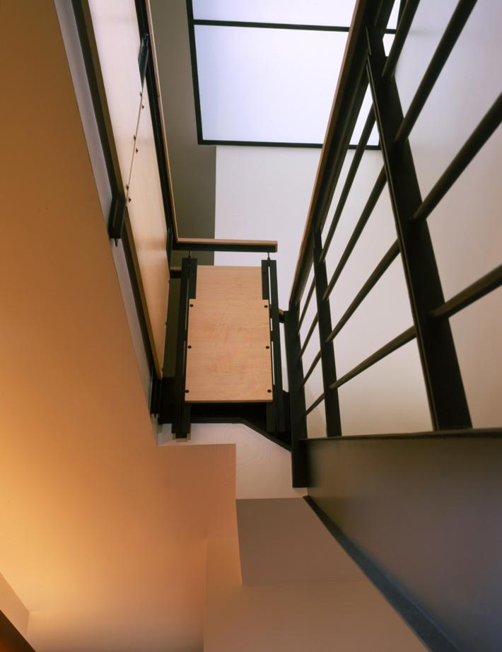 Pokorny Residence: Looking Up Stairs