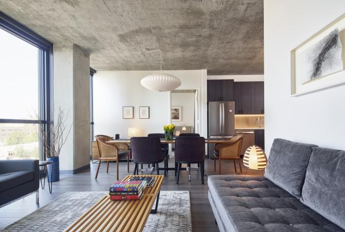 Lake and Ada: Living/Dining Room